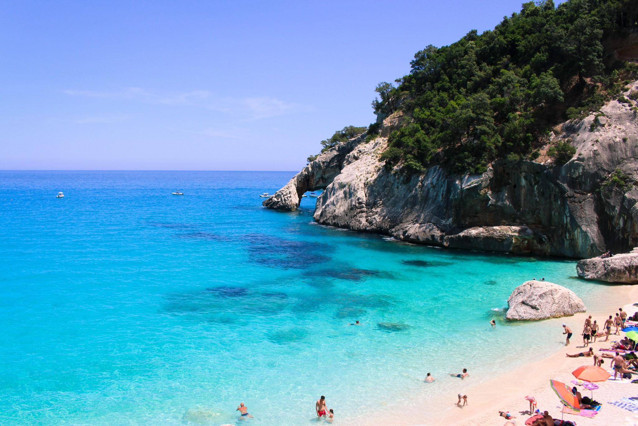 Cala Goloritzè beach in Sardinia,Italy. June 2019