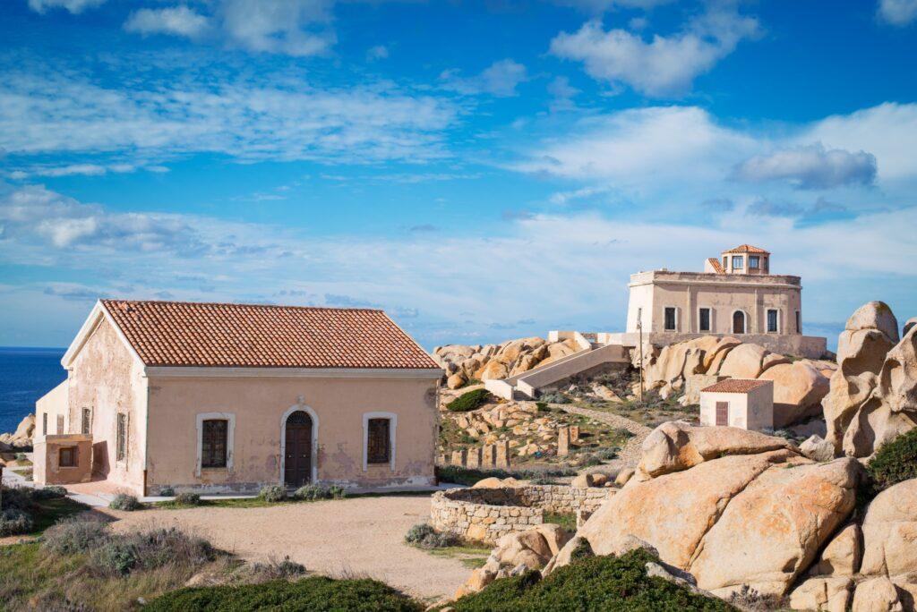 "Old disused military facilities at ""Capo Testa - Santa Teresa di Gallura"" Sardinia, Italy"
