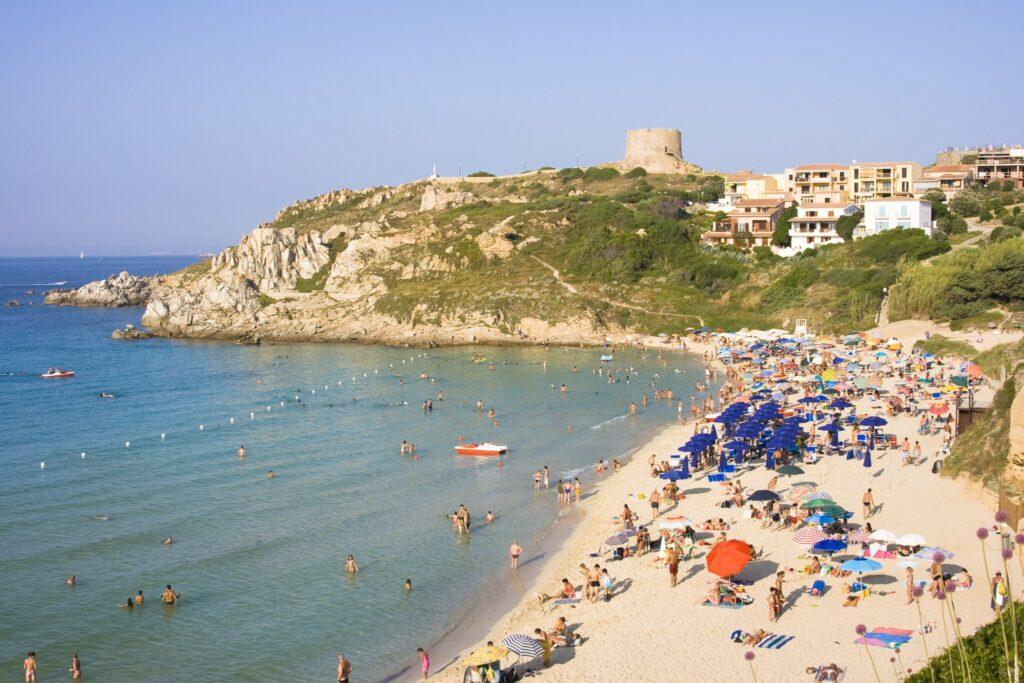 The Beach of St. Teresa in Summer - North Sardinia, Italy