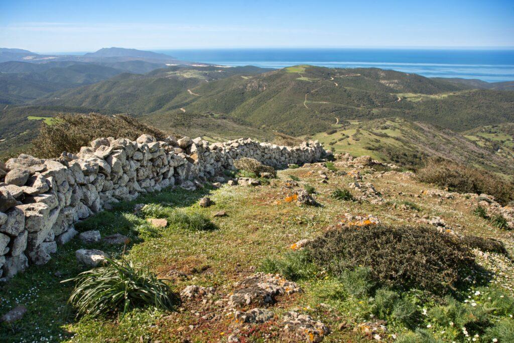 Arcuentu and view of Arbus coast called Costa Verde, Sardinia, Italy