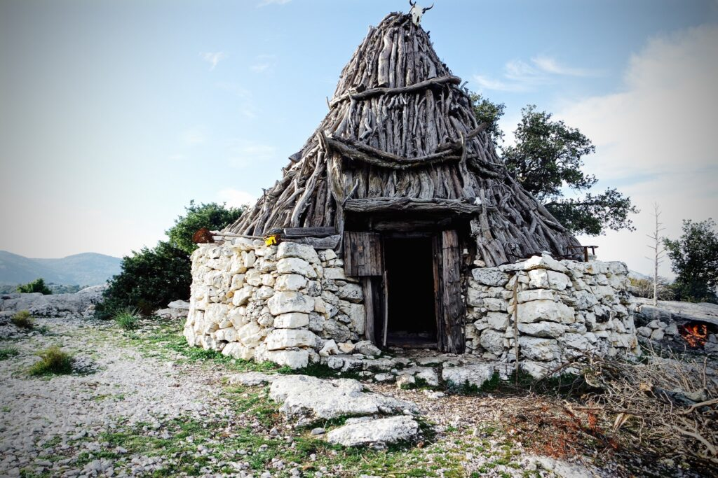 Mountains in the center of Sardinia are wild and uninhabited. Shepherds in the center of Sardinia evolved very original buildings many centuries ago in order to inhabit and make productive that place