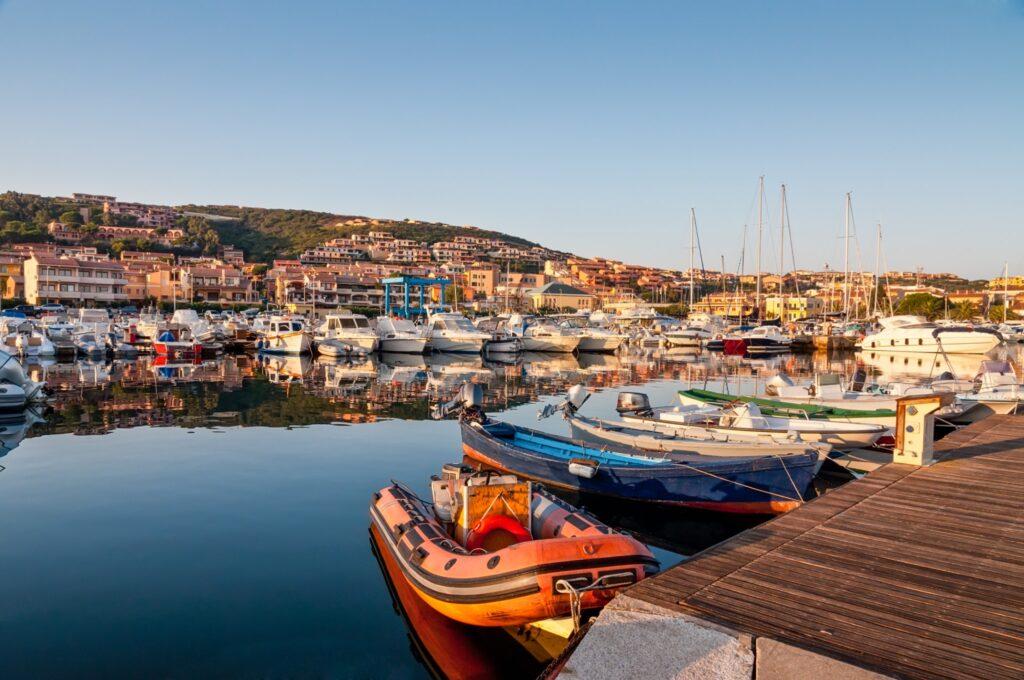 Nice morning in Palau port, Sardinia, Italy.