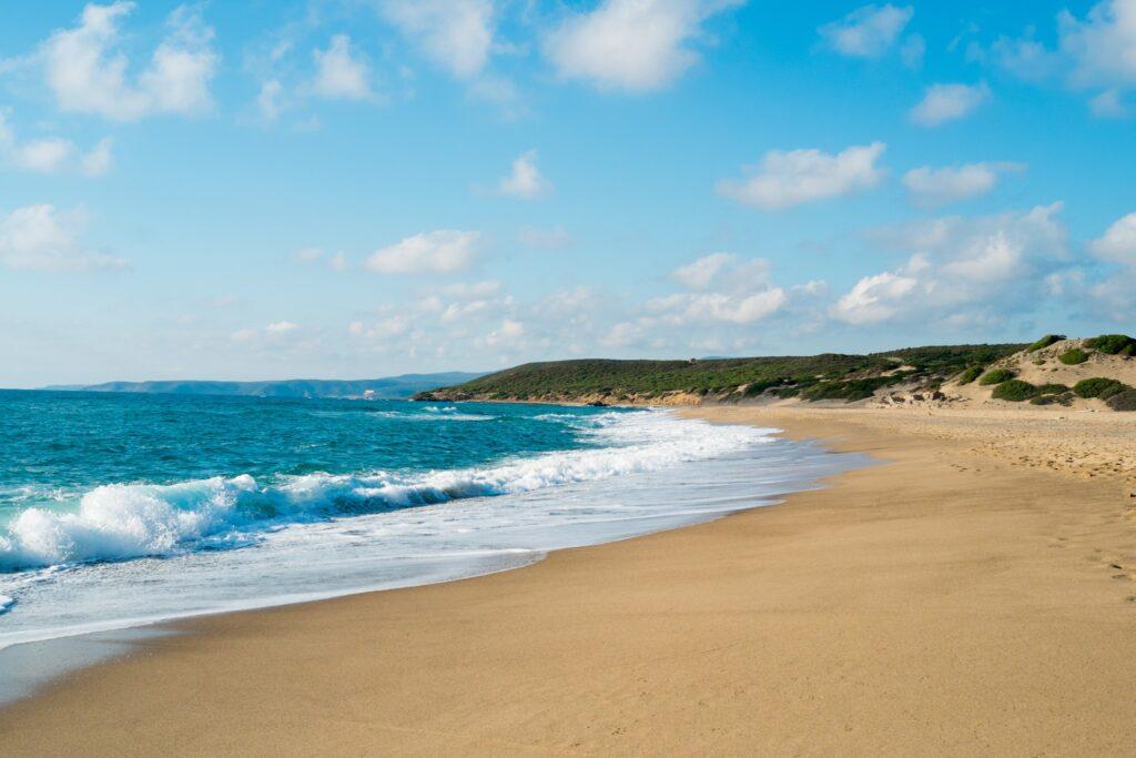Piscinas beach dunes in  Green coast, west Sardinia, Italy