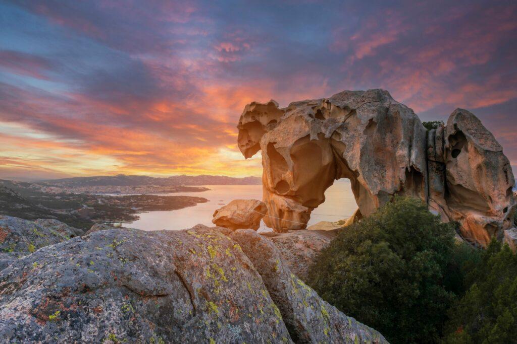 Capo D'orso Palau, Costa Smeralda -Sardinia Italy. View of the Bear rock.