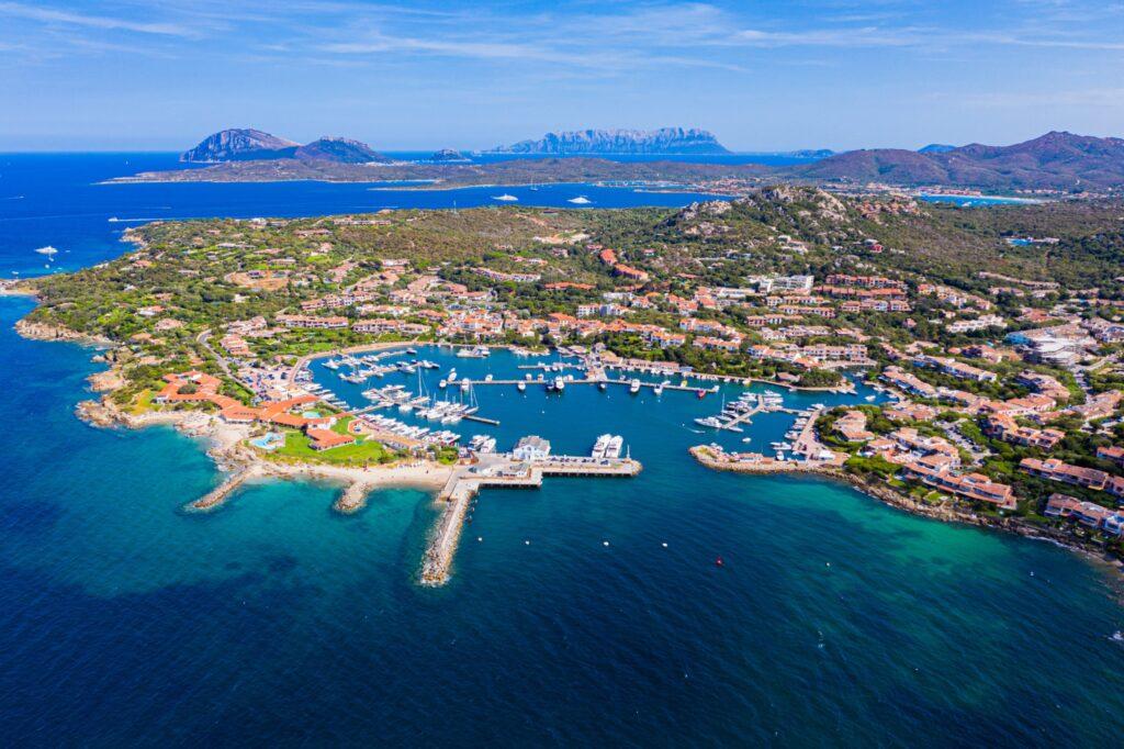 Porto Rotondo Sardinia drone view