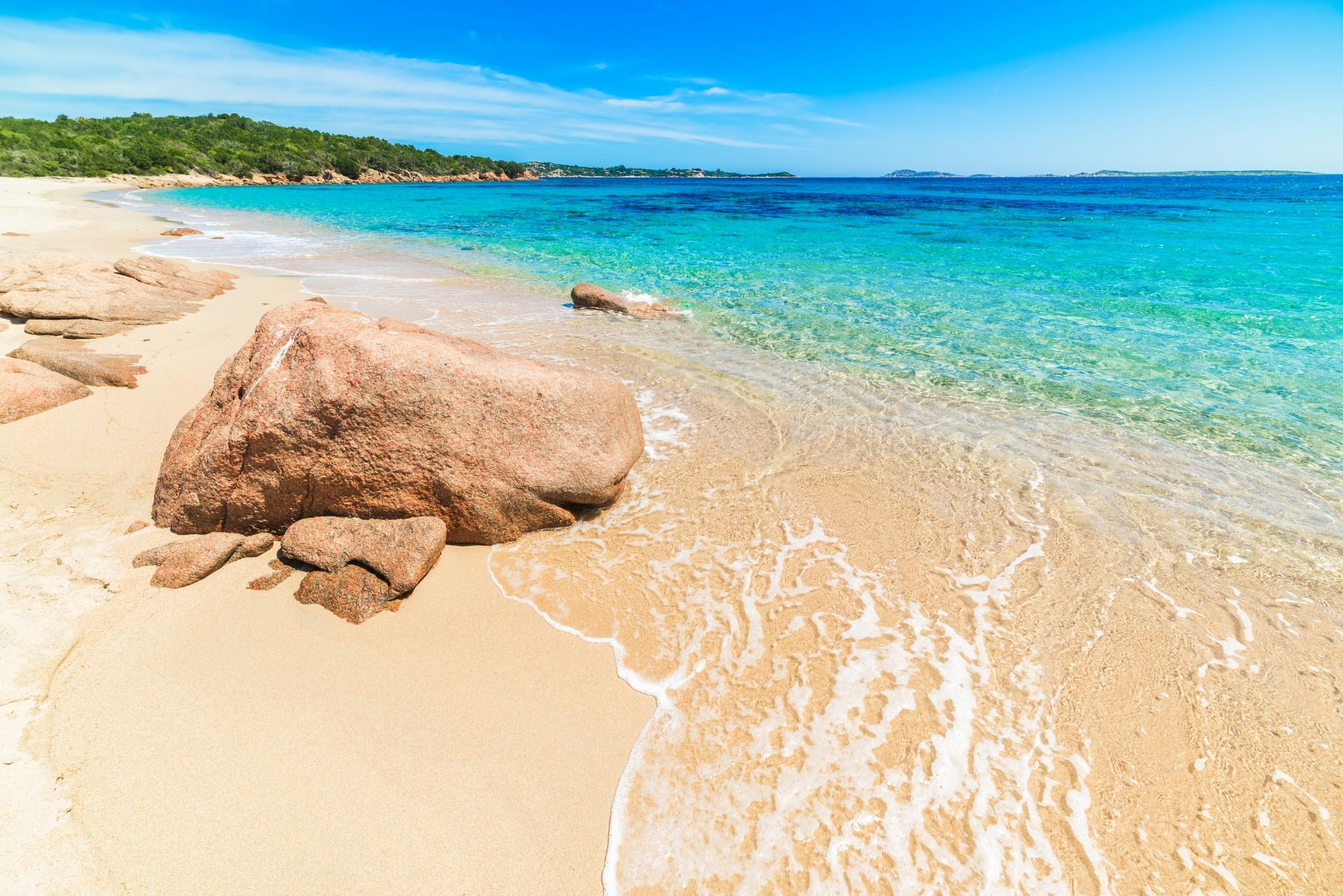 red rock in Liscia Ruja beach, Sardinia