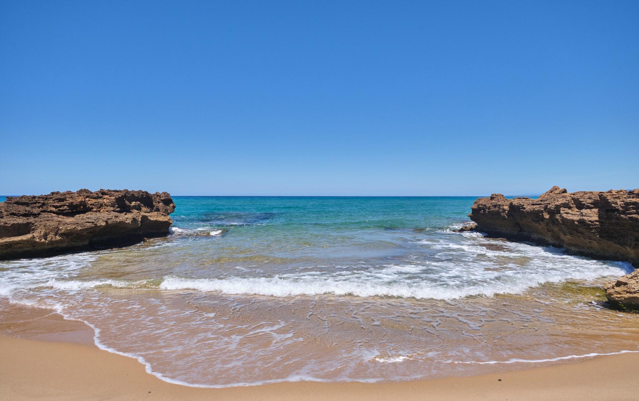 Scivu, wild beach in Arbus, west coast Sardinia, Italy