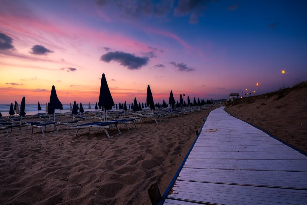 Badesi beach at sunset, Sardinia (Sardegna), Italy
