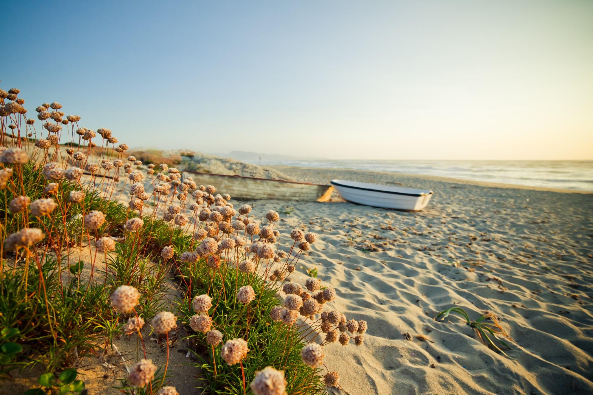 Landscape of Badesi beach, Sardinia - Italy