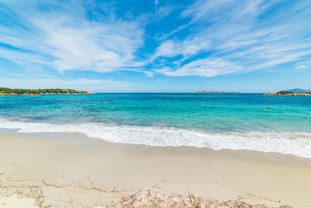 Romazzino beach on a cloudy day, Sardinia