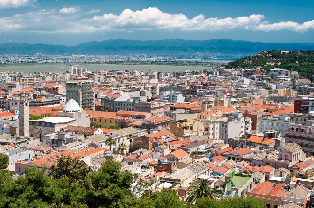 Cityscape of Villanova quarter, Cagliari, Sardinia, Italy, Europe