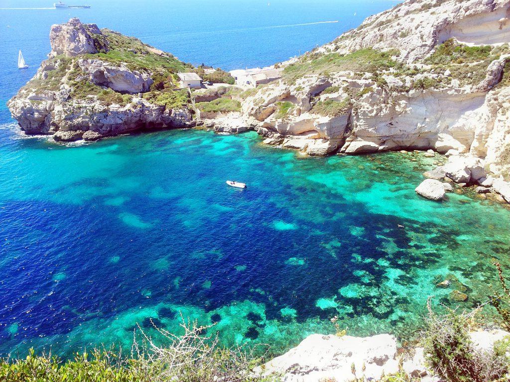 Cove of Cala Fighera, Sardinia, Italy