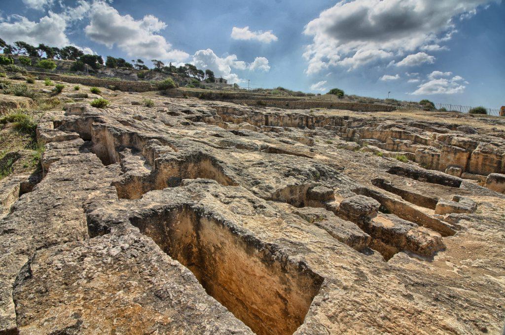 Phoenician-Punic necropolis of Tuvixeddu, Cagliari. Sardinia, Italy