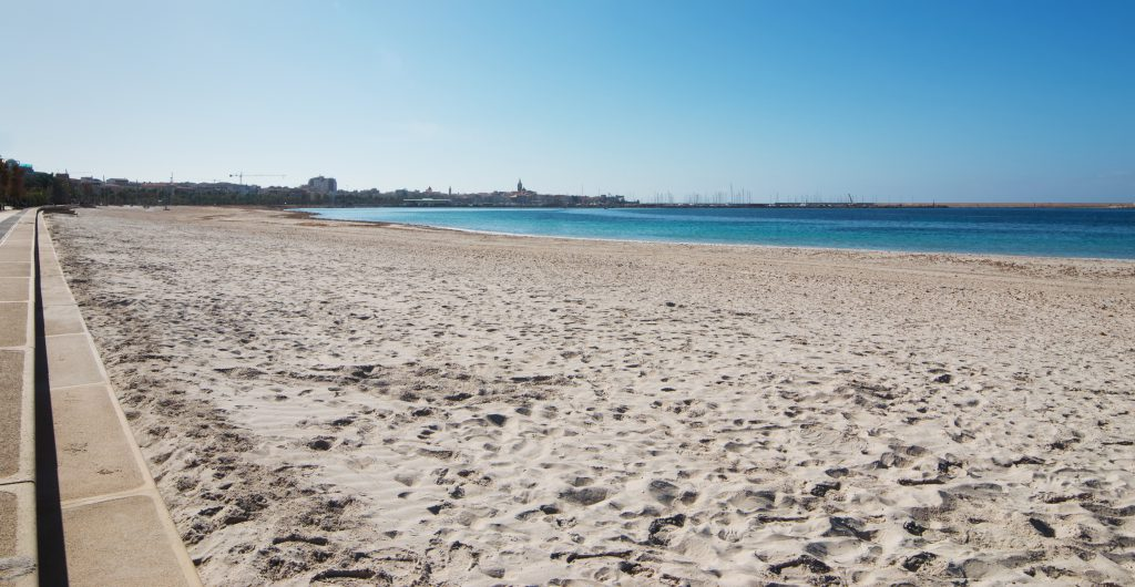 Alghero seen from the beach of Lido San Giovanni