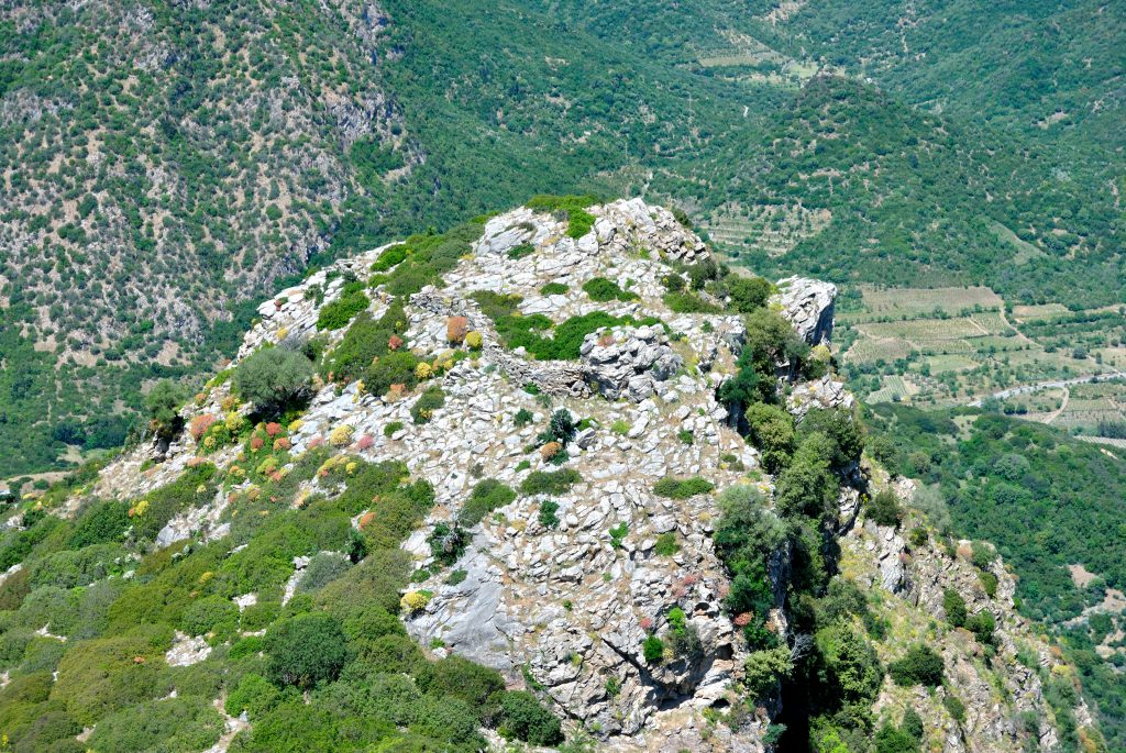 Ancient stone wall of Monte Lora