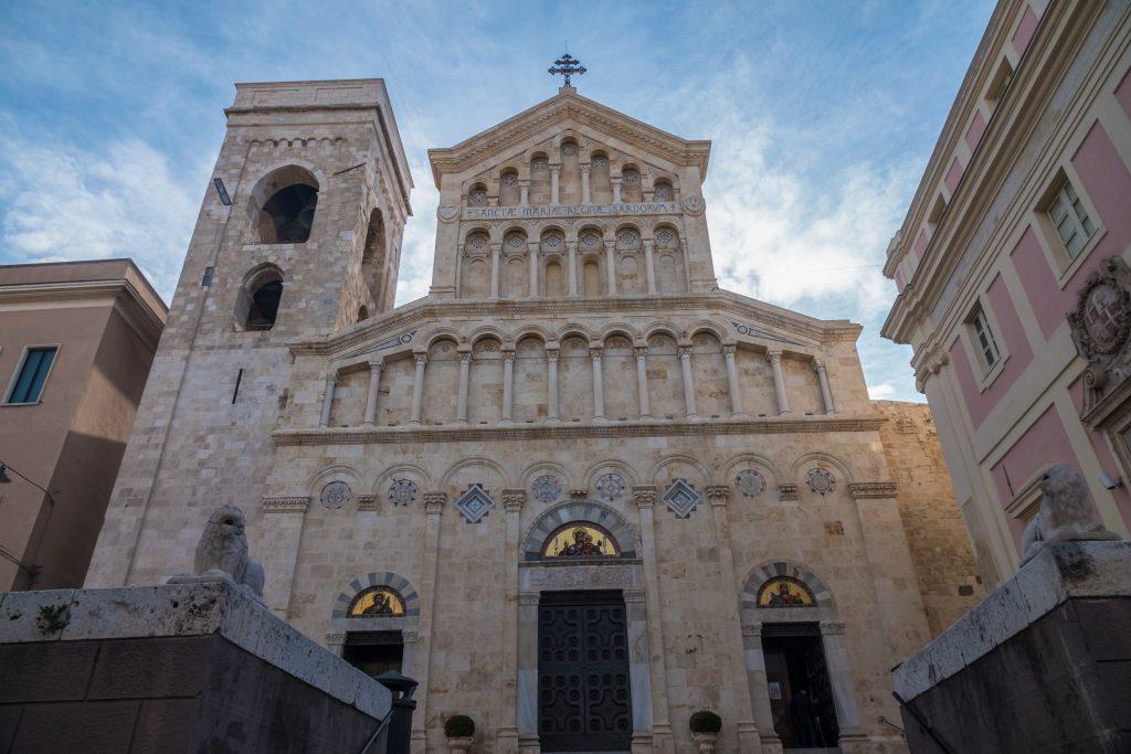 Cagliari Cathedral (IDuomo di Cagliari) in Cagliari, Sardinia, Italy, dedicated to the Virgin Mary and to Saint Cecilia.