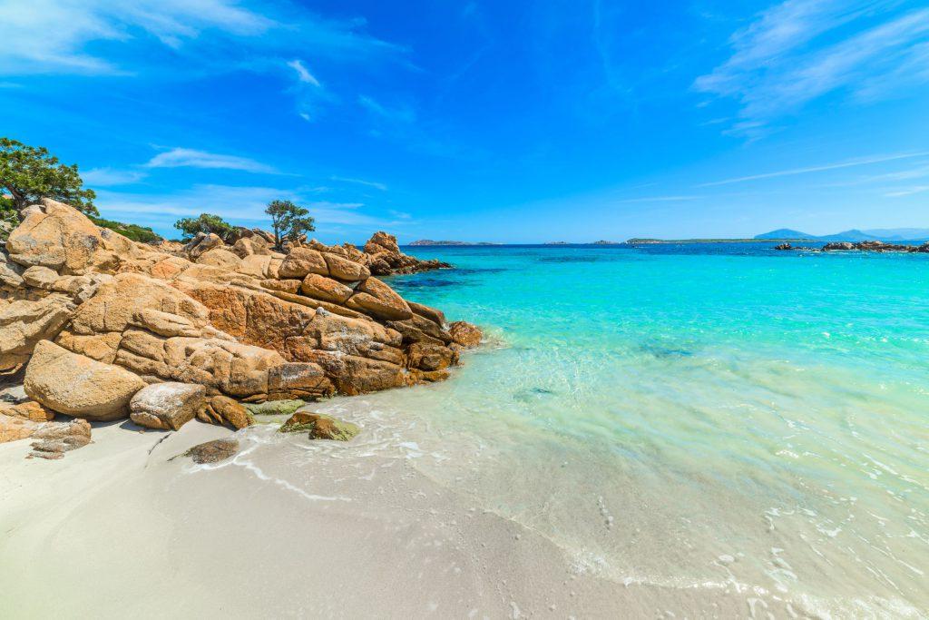 Capriccioli beach in Costa Smeralda, Sardinia