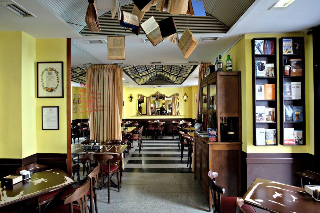 "Nuoro / Italy - February 29 2020: interior view of the ""Caffè Tettamanzi"" a cafè - restaurant in downtown"