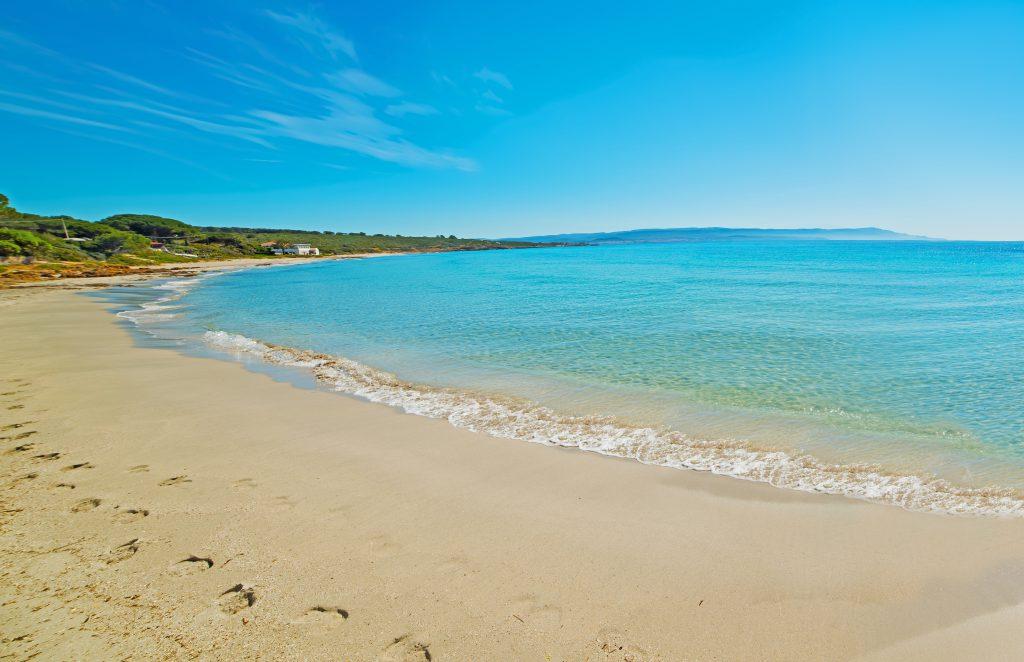 Panoramic view of Le Bombarde beach, Sardinia