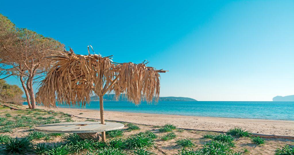 parasol by Mugoni Beach, Sardinia