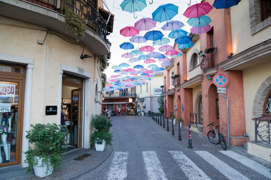 PULA, SARDINIA, ITALY - JULY 20 2015 : Streets of Pula city in Sardinia island, Italy