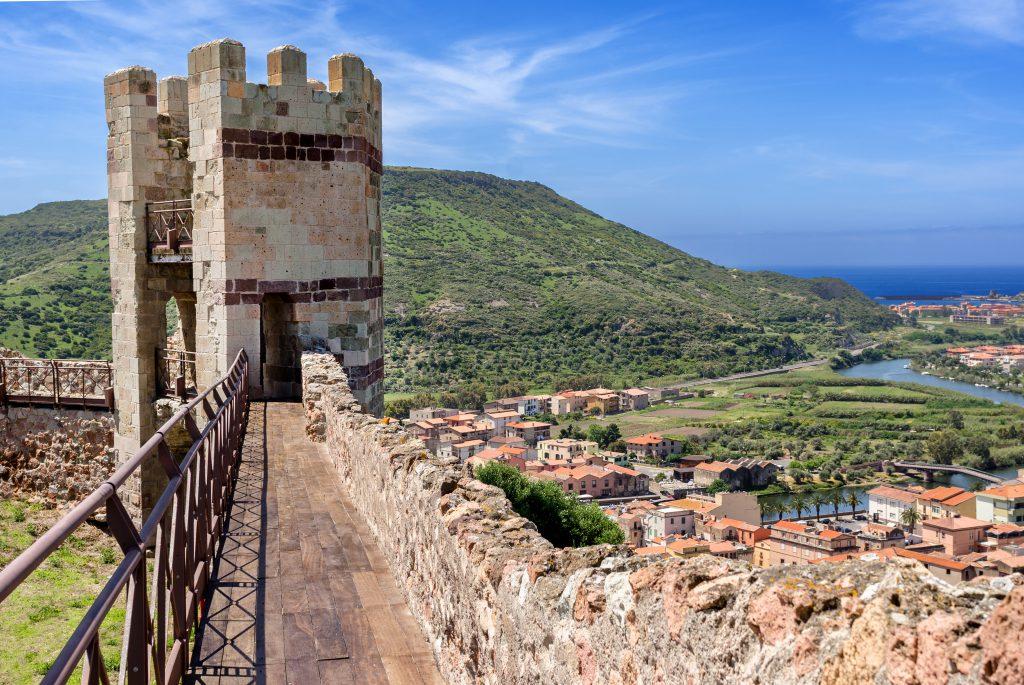 Sardinia, Bosa, Medieval Malaspina Castle