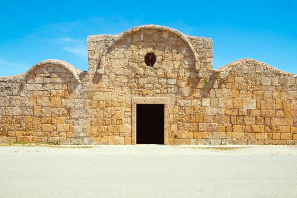 Church San Giovanni di Sinis in Cabras - Sardinia,Italy